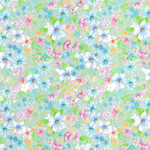 D-C-FIX Blomster blå/rosa 45cm x 2m