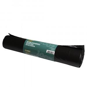Affaldssække sort, 55 my, 120 L, 10 stk