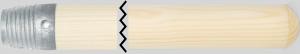 Kosteskaft, træ 150 cm - med gevind