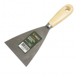 Spartel med træhåndtag 80 mm