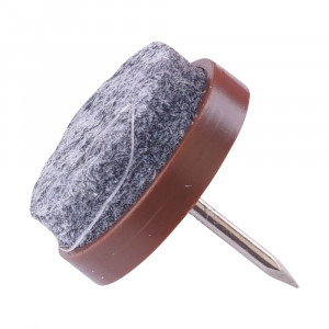 Glidesøm,   20 mm,   8 stk.  ,   grå/brun