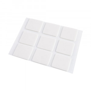 Skumpuder, 25 x 25 mm, 9 stk., hvid