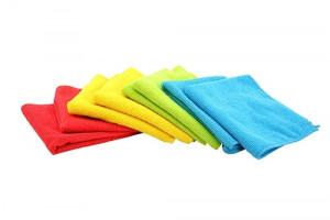 Microfiber klud 2-pak 4 farver